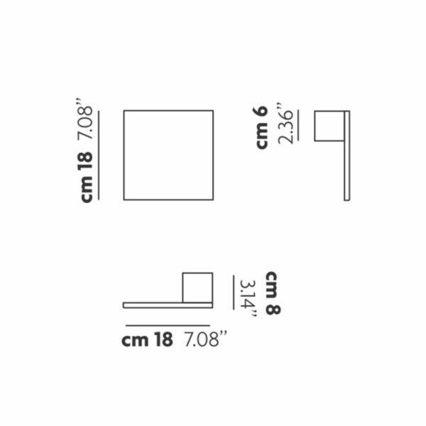 Studio Italia Design Wand- und Deckenleuchte Puzzle Square Single Maße