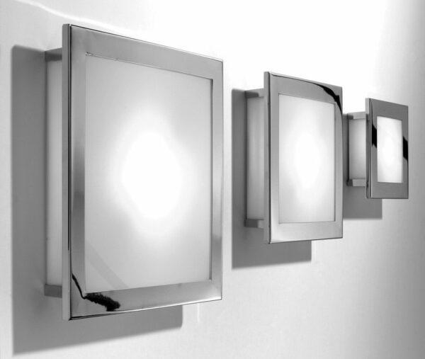 Decor Walther Wand- und Deckenleuchte Kubic Chrom - Deckenleuchten Innen