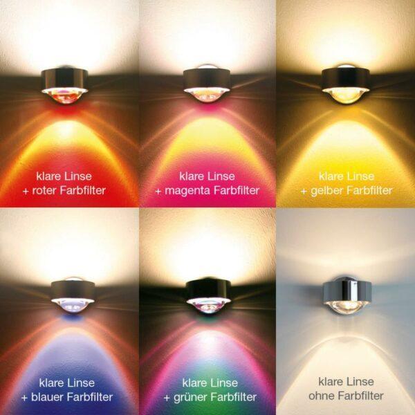 Top Light Wand- und Deckenleuchte Puk Wing Twin LED