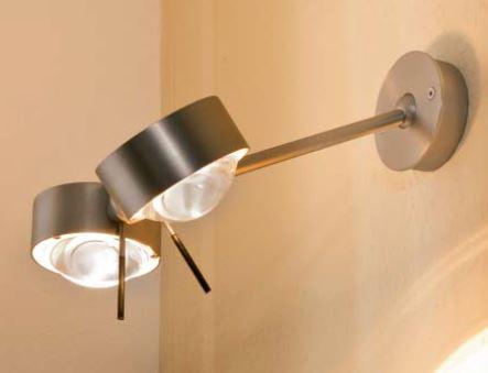 Top Light Wand- und Deckenleuchte Puk Wing Twin LED Chrom matt