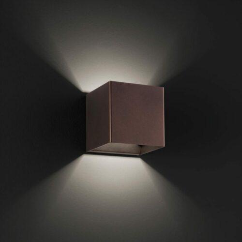 Lodes / Studio Italia Design Wandleuchte Laser Cube 10x10 cm, Bronze - Lampen & Leuchten