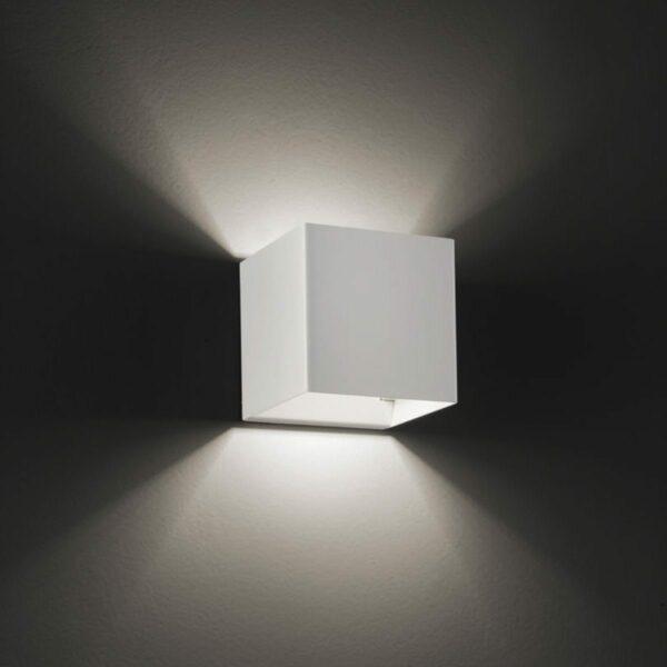 Studio Italia Design Wandleuchte Laser Cube 10x10 cm, Weiß matt - Innenleuchten