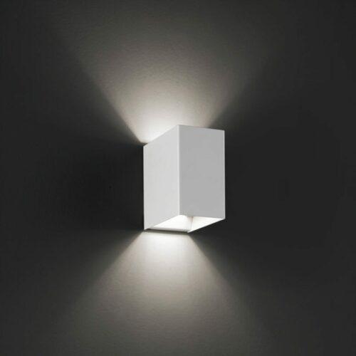 Lodes / Studio Italia Design Wandleuchte Laser Cube LED 10x6 cm, 2700 K - Lampen & Leuchten