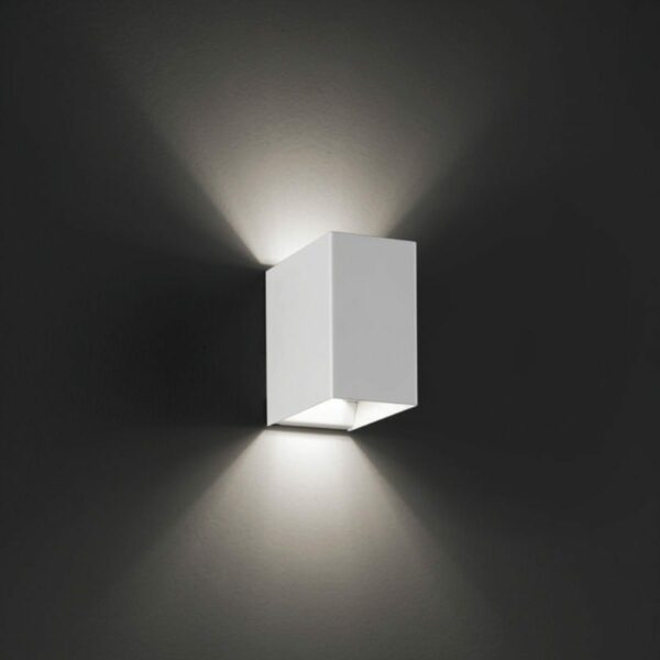 Lodes Wandleuchte Laser Cube LED 10x6 cm, 2700 K - Esszimmer-Leuchten