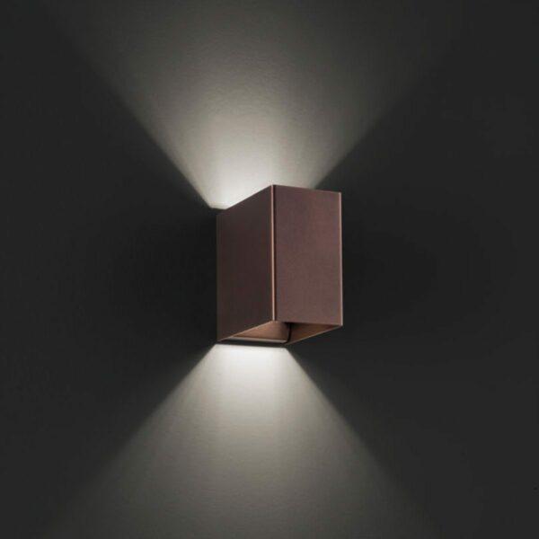 Studio Italia Design Wandleuchte Laser Cube LED 10x6 cm, 3000 K - Wandleuchten Innen