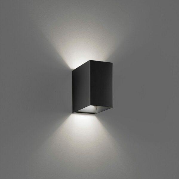 Lodes / Studio Italia Design Wandleuchte Laser Cube LED 10x6 cm, 3000 K - Lampen & Leuchten
