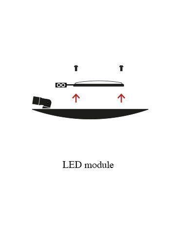 Catellani & Smith Wandleuchte Lederam W LED 25 cm - Open Box