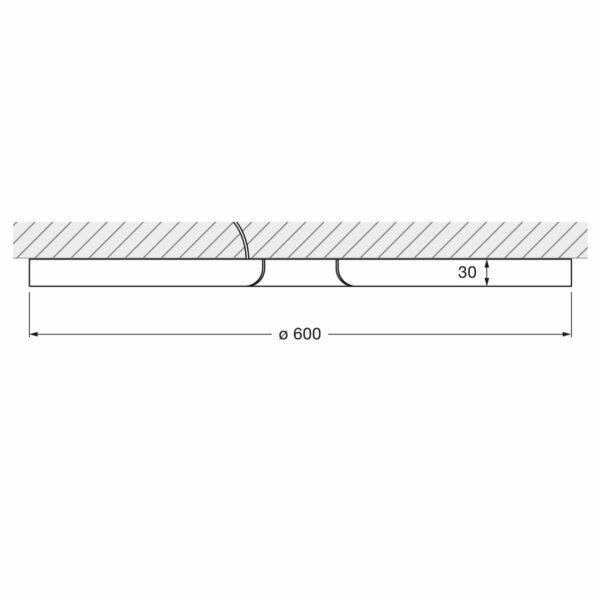 Occhio Wandleuchte Mito soffitto 60 up wide - Lampen & Leuchten
