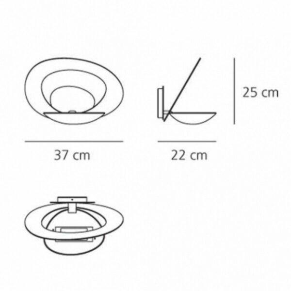 Artemide Wandleuchte Pirce Parete Maße
