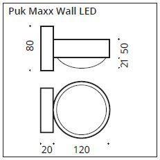 Top Light Wandleuchte Puk Maxx Wall LED Maße