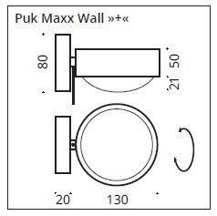 Top Light Wandleuchte Puk Maxx Wall + drehbar Maße