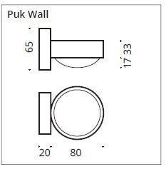 Top Light Wandleuchte Puk Wall LED Maße