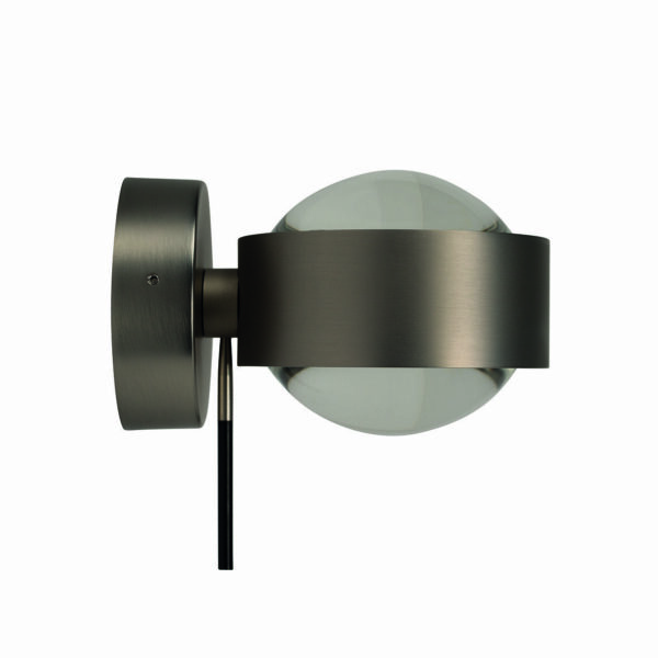 Top Light Wandleuchte Puk Wall + LED drehbar Nickel matt