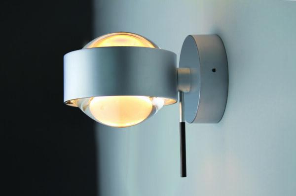 Top Light Wandleuchte Puk Wall + LED drehbar Chrom matt