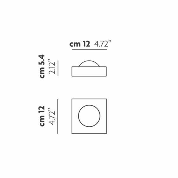 Lodes / Studio Italia Design Wandleuchte Shelf Single - Lampen & Leuchten