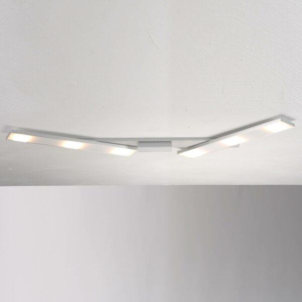 Bopp Deckenleuchte Slight HV-LED 6-flammig Aluminium geschliffen