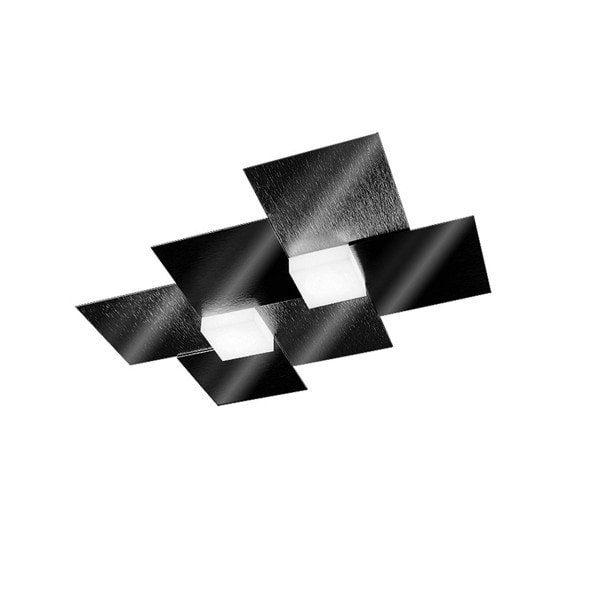 Grossmann Deckenleuchte Creo 2-flammig Schwarz glänzend