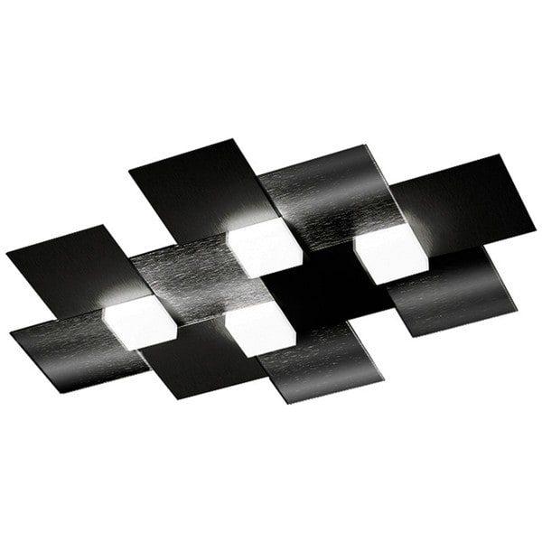 Grossmann Deckenleuchte Creo 4-flammig Schwarz glänzend rechteckig