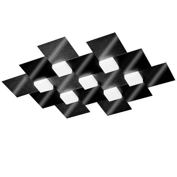 Grossmann Deckenleuchte Creo 7-flammig Schwarz glänzend