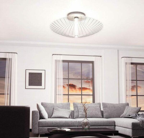 Grossmann Wand- und Deckenleuchte Faye Aluminium 75 cm Warmweiß Milieu
