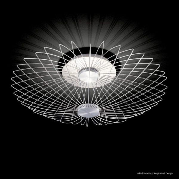 Grossmann Wand- und Deckenleuchte Faye Aluminium 49 cm