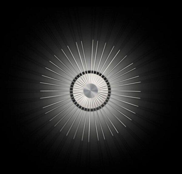 Grossmann Wand- und Deckenleuchte Faye Aluminium 49 cm Frontansicht