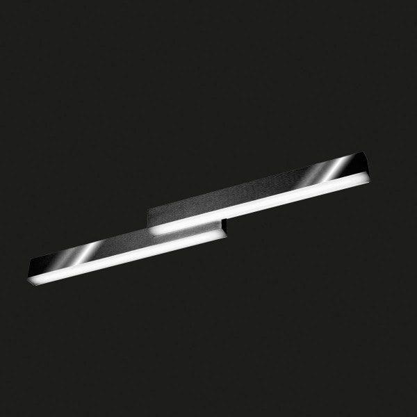 Grossmann Wand- und Deckenleuchte Zon 79 cm Schwarz glänzend