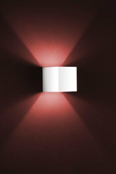 Helestra Wandleuchte Siri Halogen Aluminium, Weiß matt