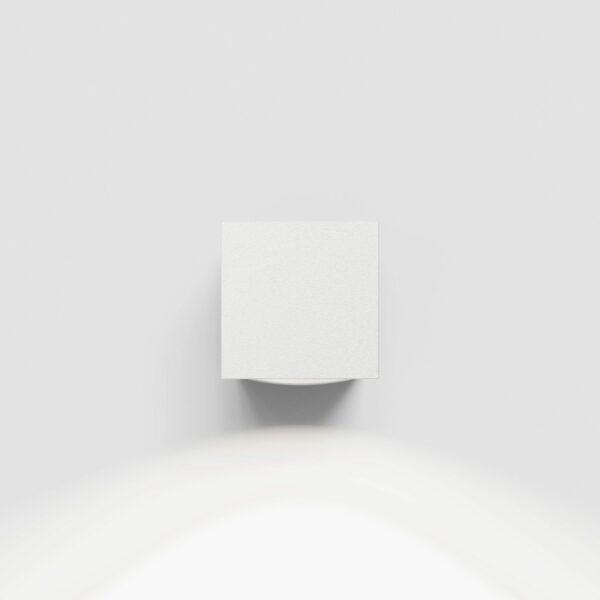 Ip44.de Wandaußenleuchte Como Down Pure White