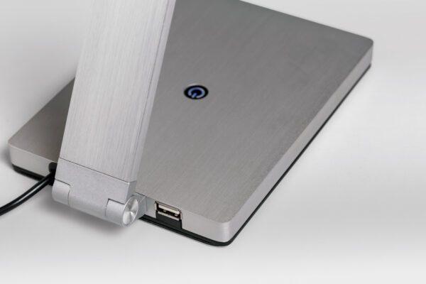 Lupia Licht Tischleuchte Navigator USB Aluminium Matt