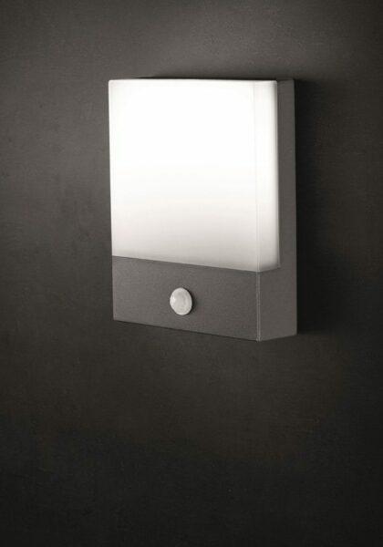 Lupia Licht Wandaußenleuchte Pad Anthrazit Sensor