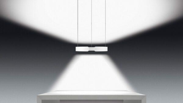 Occhio Mito sospeso Lichtwirkung table wide