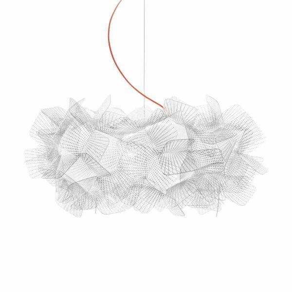 Slamp Pendelleuchte Clizia Medium Pixel, rotes Kabel