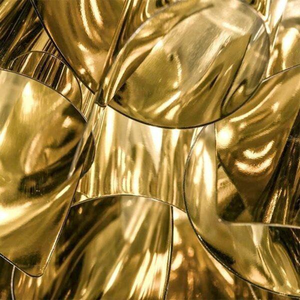 Slamp Pendelleuchte Veli Large Gold Detail Leuchtenschirm
