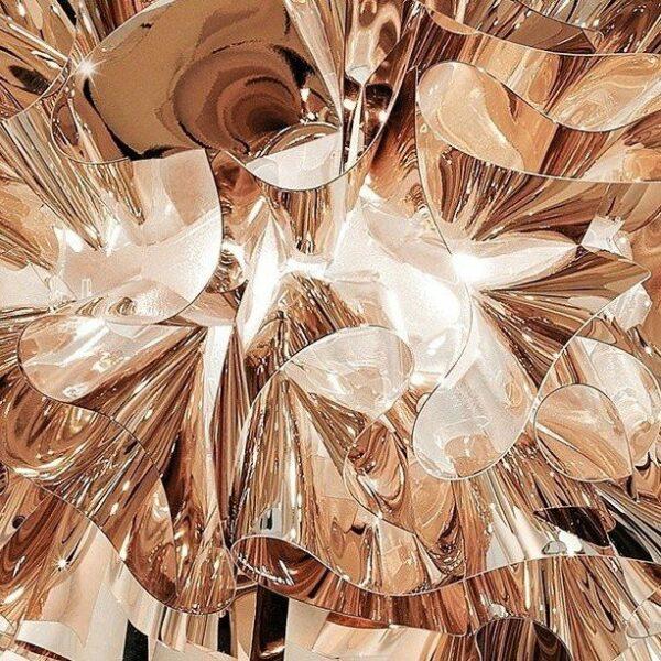 Slamp Pendelleuchte Veli Large Kupfer Detail Leuchtenschirm