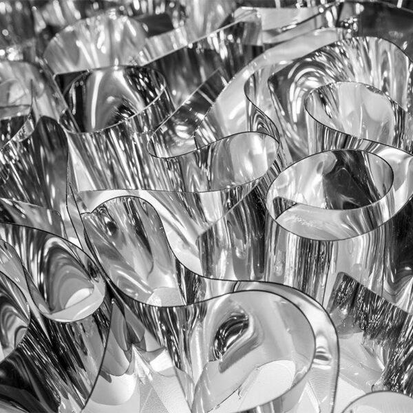 Slamp Pendelleuchte Veli Large Silber Detail Leuchtenschirm