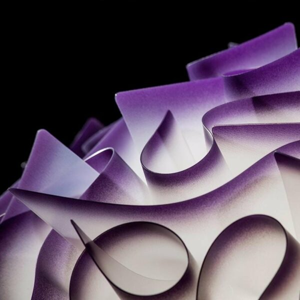 Slamp Pendelleuchte Veli Large Violett Detail Leuchtenschirm