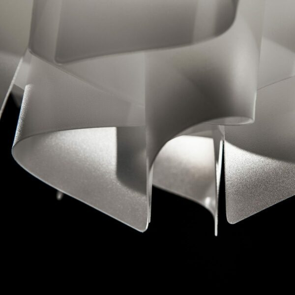 Slamp Pendelleuchte Veli Medium Opalweiß Detail Leuchtenschirm