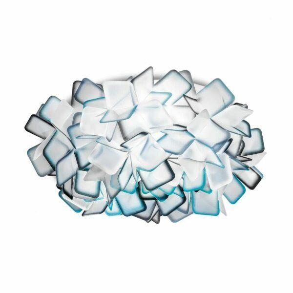 Slamp Wand- und Deckenleuchte Clizia Medium Blau Decke
