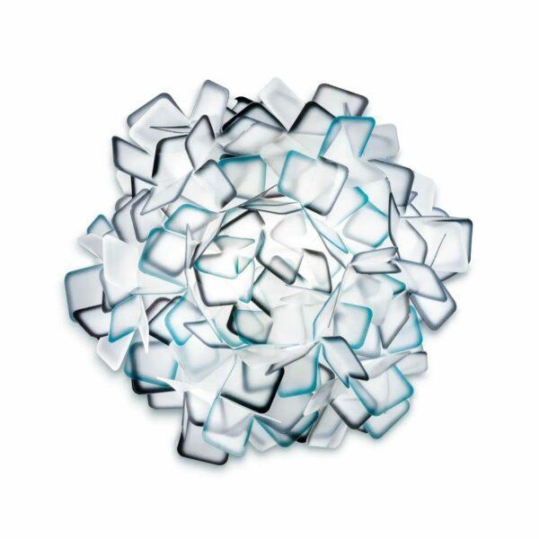 Slamp Wand- und Deckenleuchte Clizia Medium Blau Wand