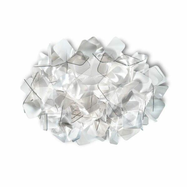 Slamp Wand- und Deckenleuchte Clizia Medium Fumé/Grau Decke