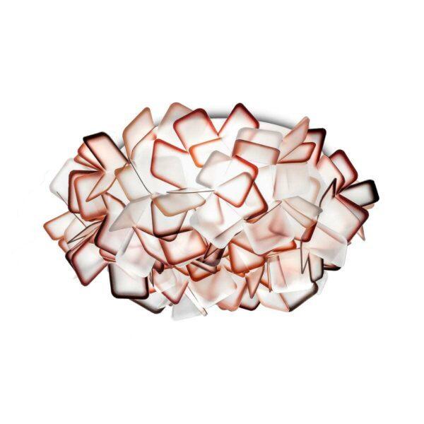 Slamp Wand- und Deckenleuchte Clizia Medium Orange Decke