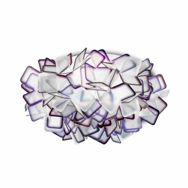 Slamp Wand- und Deckenleuchte Clizia Medium Violett Decke