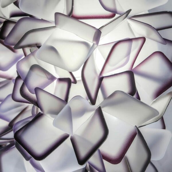 Slamp Wand- und Deckenleuchte Clizia Medium Violett Detail Leuchtenschirm