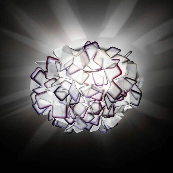 Slamp Wand- und Deckenleuchte Clizia Medium Violett Milieu