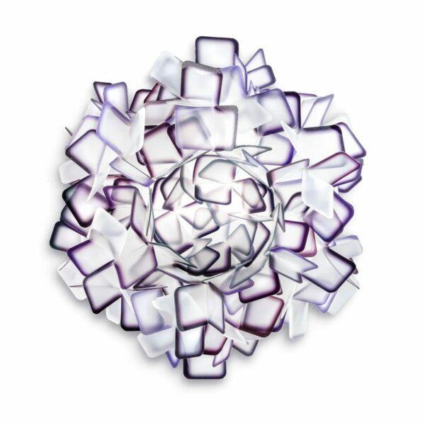 Slamp Wand- und Deckenleuchte Clizia Medium Violett Wand