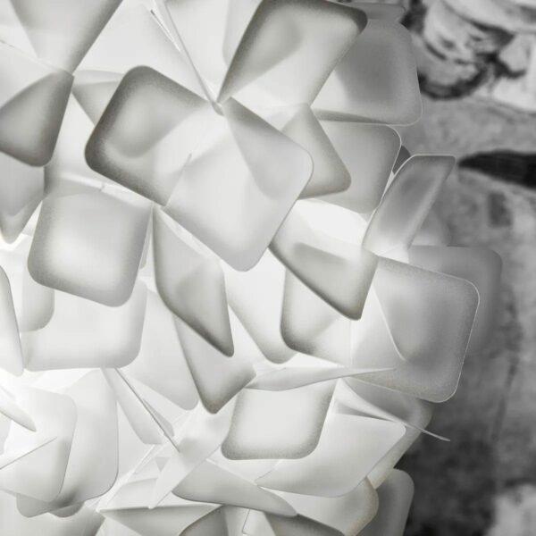 Slamp Wand- und Deckenleuchte Clizia Medium Weiß Detail Leuchtenschirm