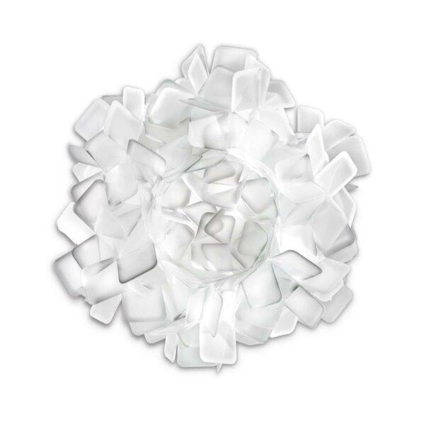 Slamp Wand- und Deckenleuchte Clizia Medium Weiß Wand