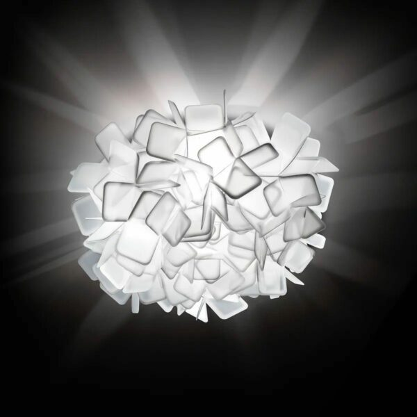 Slamp Wand- und Deckenleuchte Clizia Medium Weiß Milieu