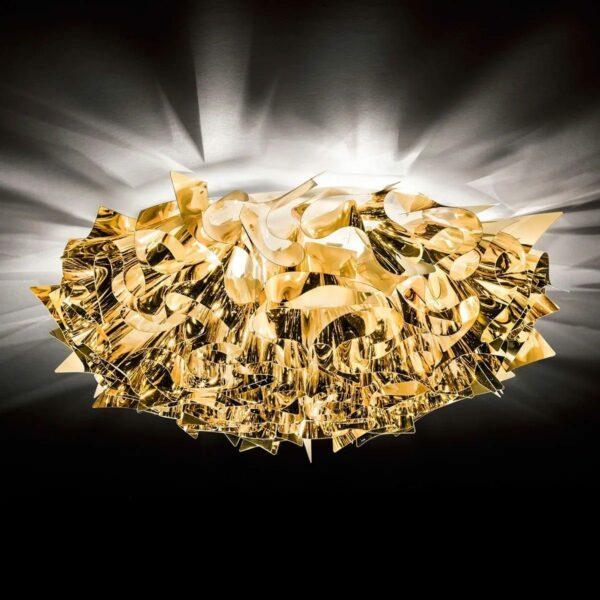 Slamp Wand- und Deckenleuchte Veli Large Gold Milieu